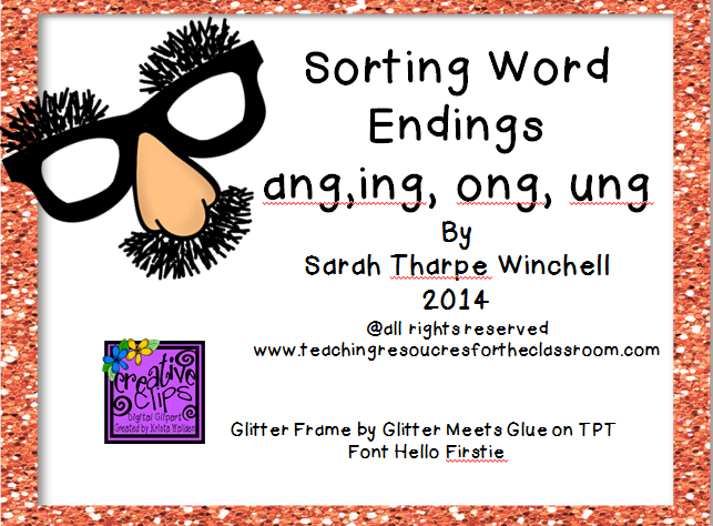 Phonics Game Freebie ang ung ing ong Glued Sounds Science is – Fundations Worksheets